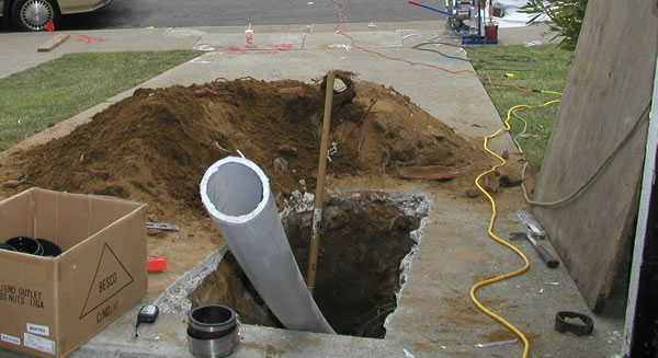 Trenchless Sewer Pipe Line Installation