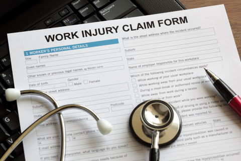 Claim form for an injury