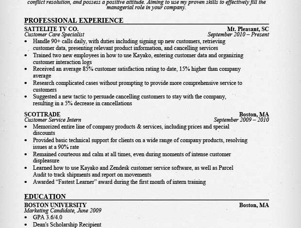 How to Effectively Outline Your Past Experience & Education on Your Resume
